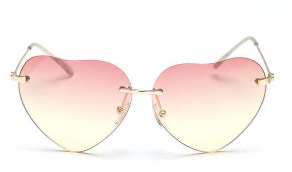 janis joplin heart shaped free sunglasses pink yellow