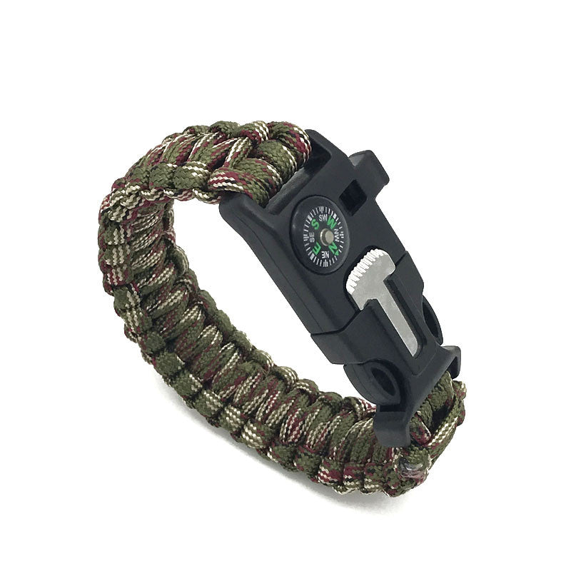 paracord survival free bracelet survival kit military green