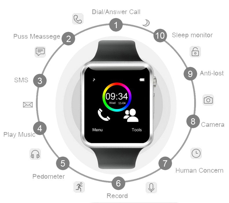 luxury smartwatch cheap iphone and android functions