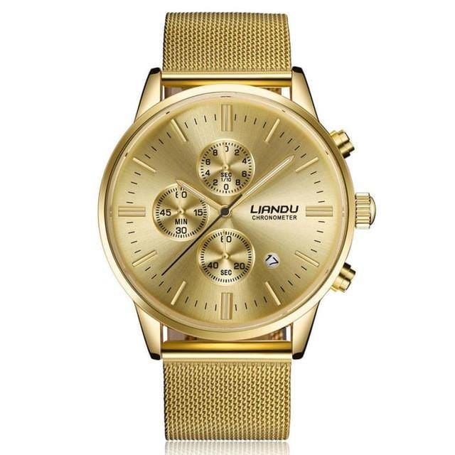 golden perfection premium cheap luxury watch gold