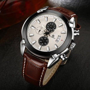 black line premium luxury cheap watch brown silver