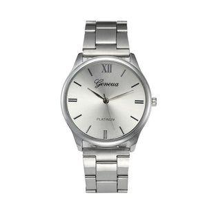 genova lux free watches silver wristwatch