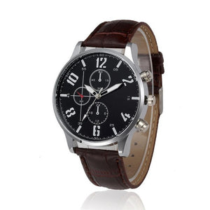 free watches leather quartz brown watch