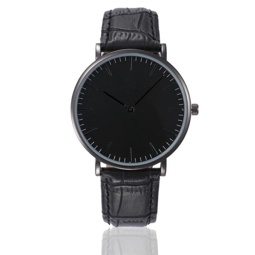 The darkness free watches leather black