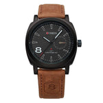 leather man premium cheap luxury watch black brown leather