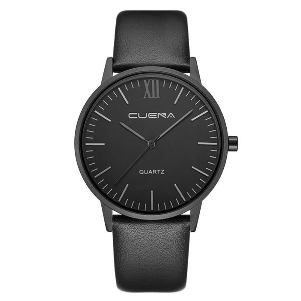 pure black premium cheap luxury watch black