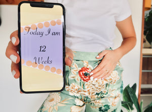 Digital Pregnancy Milestones Cards - Downloadable Collection