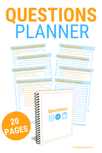 New Mom Questions Planner