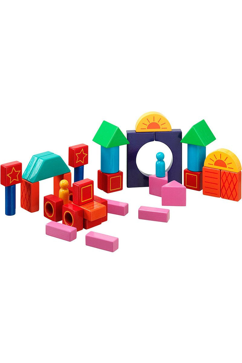 38 Coloured Building Blocks in a  Bag - Lanka Kade Toys - Snugglefox