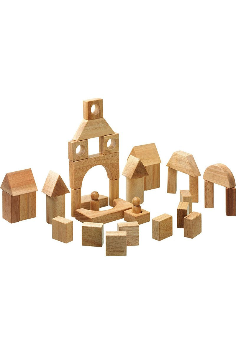 38 Natural Building Blocks in a  Bag - Lanka Kade Toys - Snugglefox