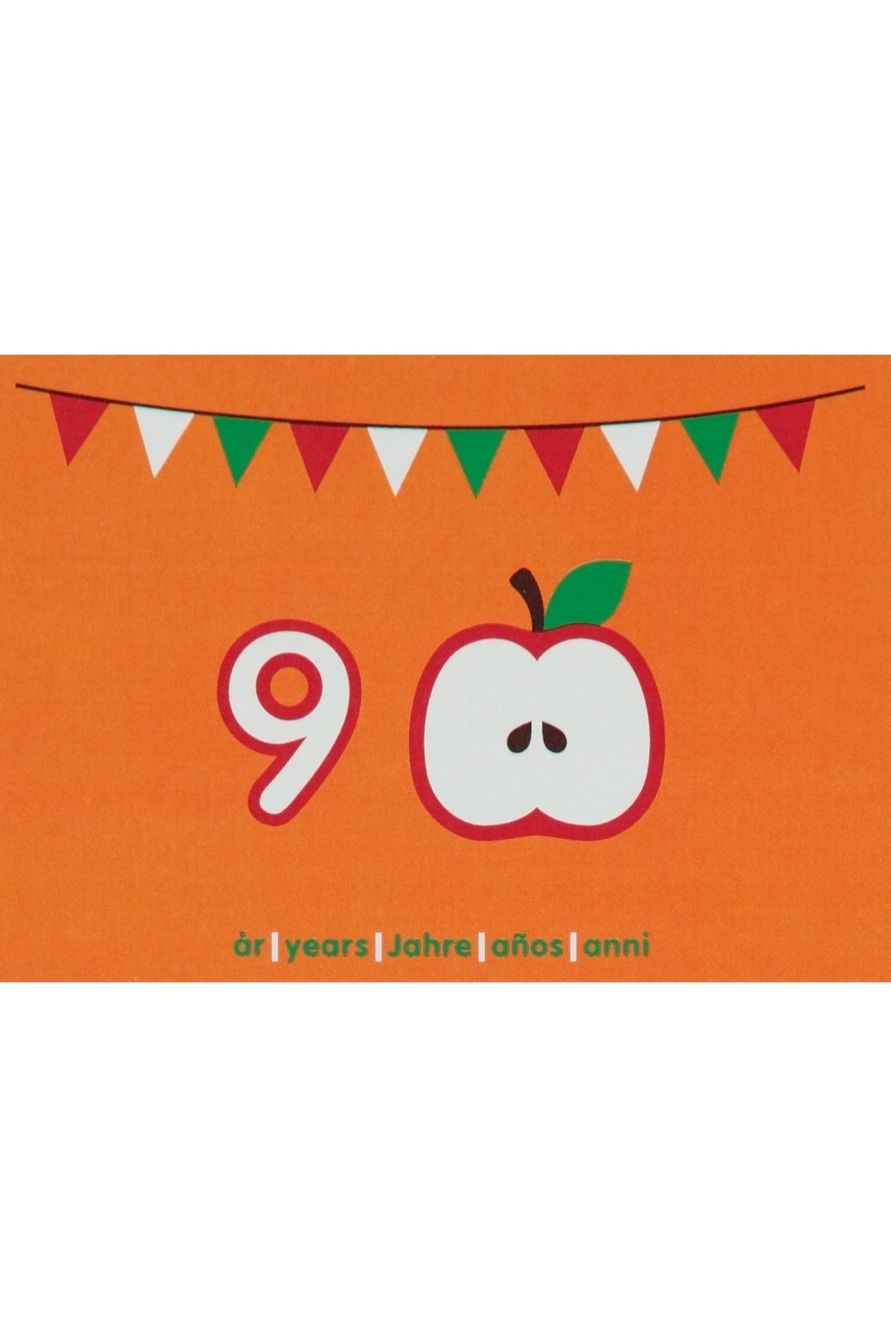 9th Birthday Card - Motive - Apple - Maxomorra Accessories - Snugglefox