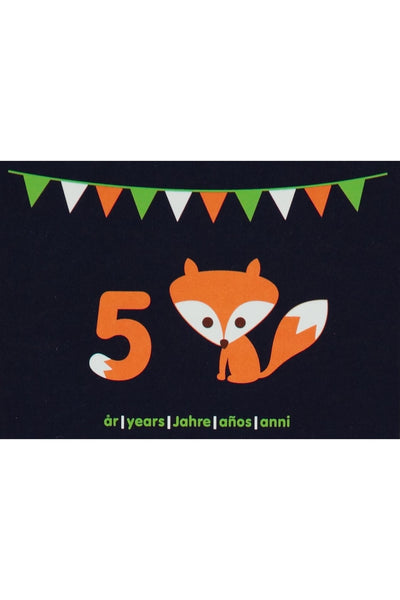 5th Birthday Card - Motive - Fox - Maxomorra Accessories - Snugglefox