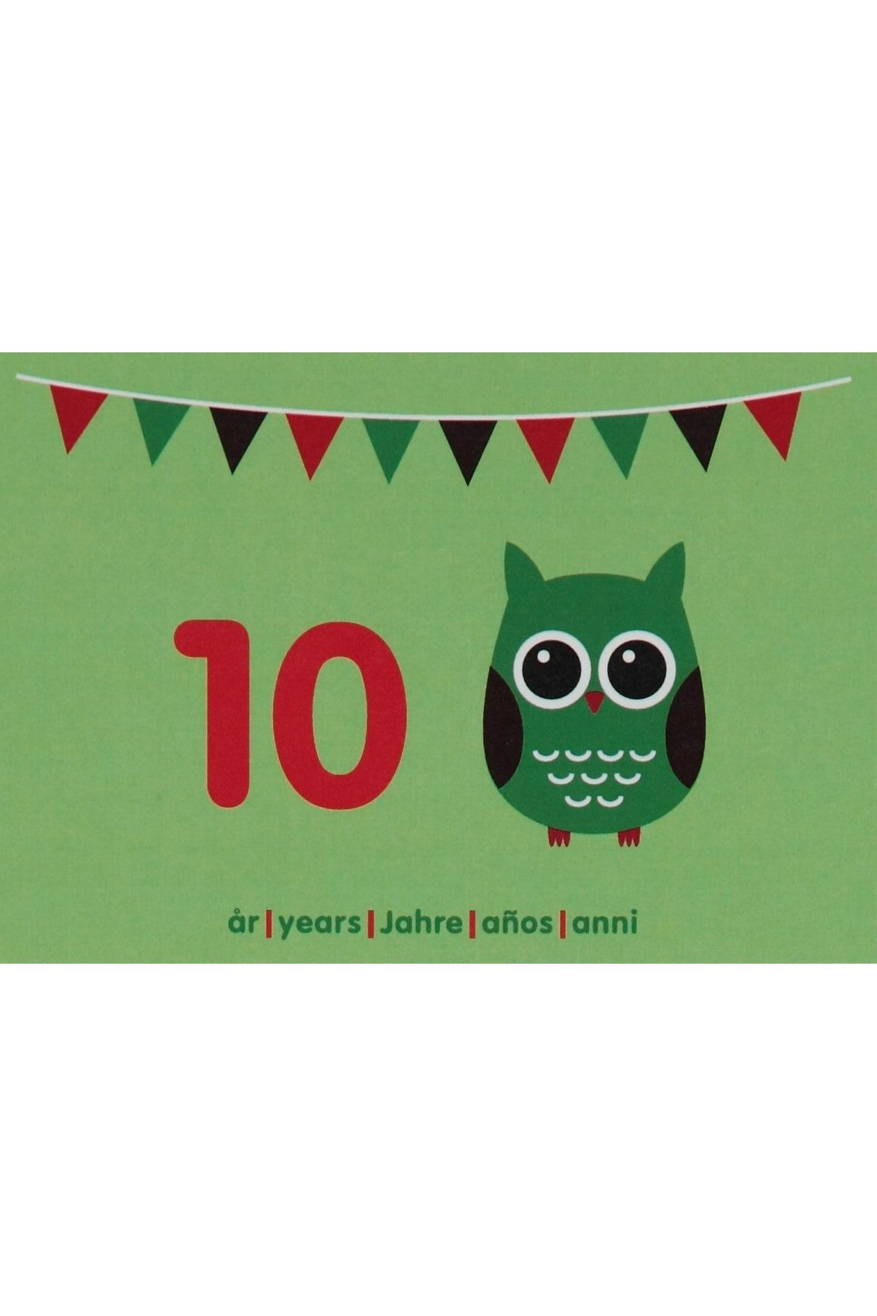 10th Birthday Card - Motive - Owl - Maxomorra Accessories - Snugglefox