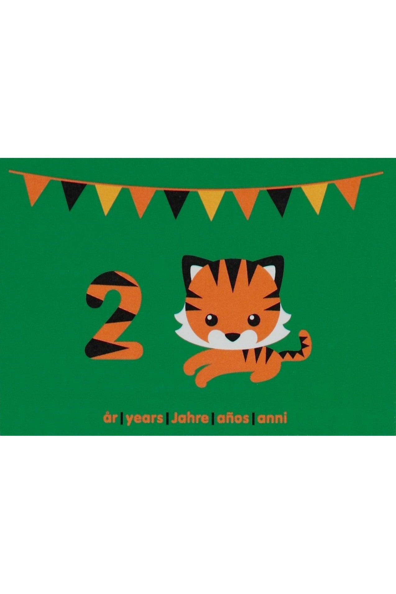 2nd Birthday Card - Motive - Tiger - Maxomorra Accessories - Snugglefox