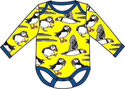Long Sleeve Puffins Body Yellow - DUNS