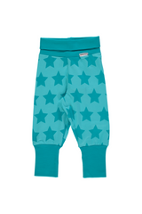 Star Turquoise Rib Pants - Maxomorra Fashion - Snugglefox