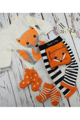 Orange & White Socks 2 - Blade & Rose Fashion - Snugglefox