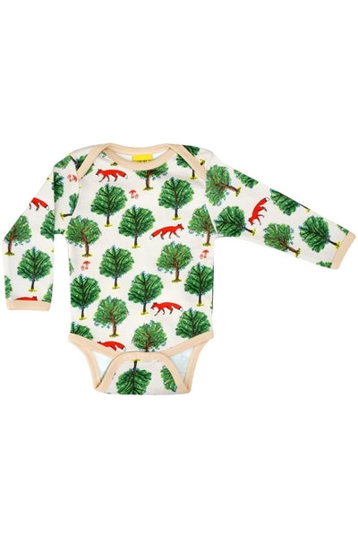 Long Sleeve Body Fox Tree -Light - Tan - DUNS Fashion - Snugglefox