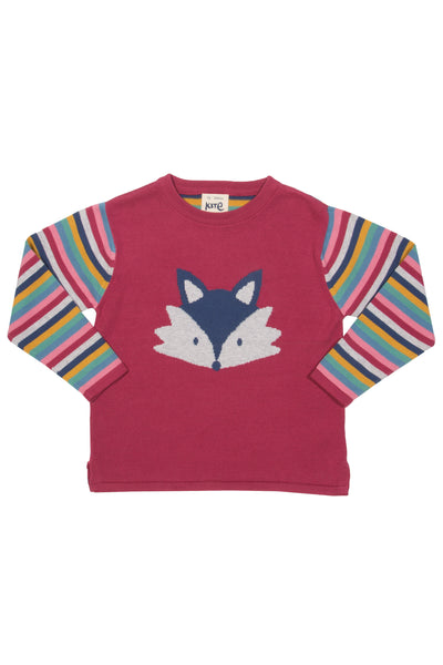 Foxy Face Jumper - Long Sleeve - Kite Fashion - Snugglefox