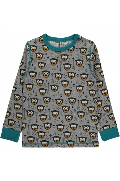 Little Arrow Monkey - Top - Long-Sleeves - Maxomorra Fashion - Snugglefox