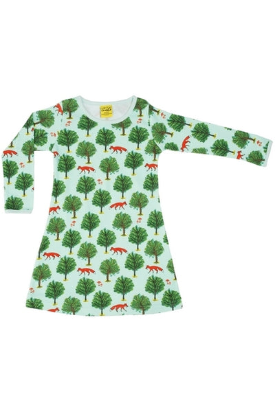 Fox Tree- Jade - Long Sleeve - A-Line Dress - DUNS Fashion - Snugglefox