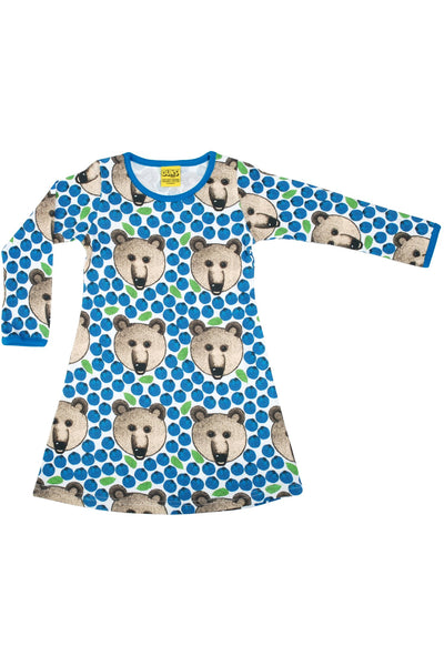 Bear Blue Long Sleeve Dress - DUNS Fashion - Snugglefox