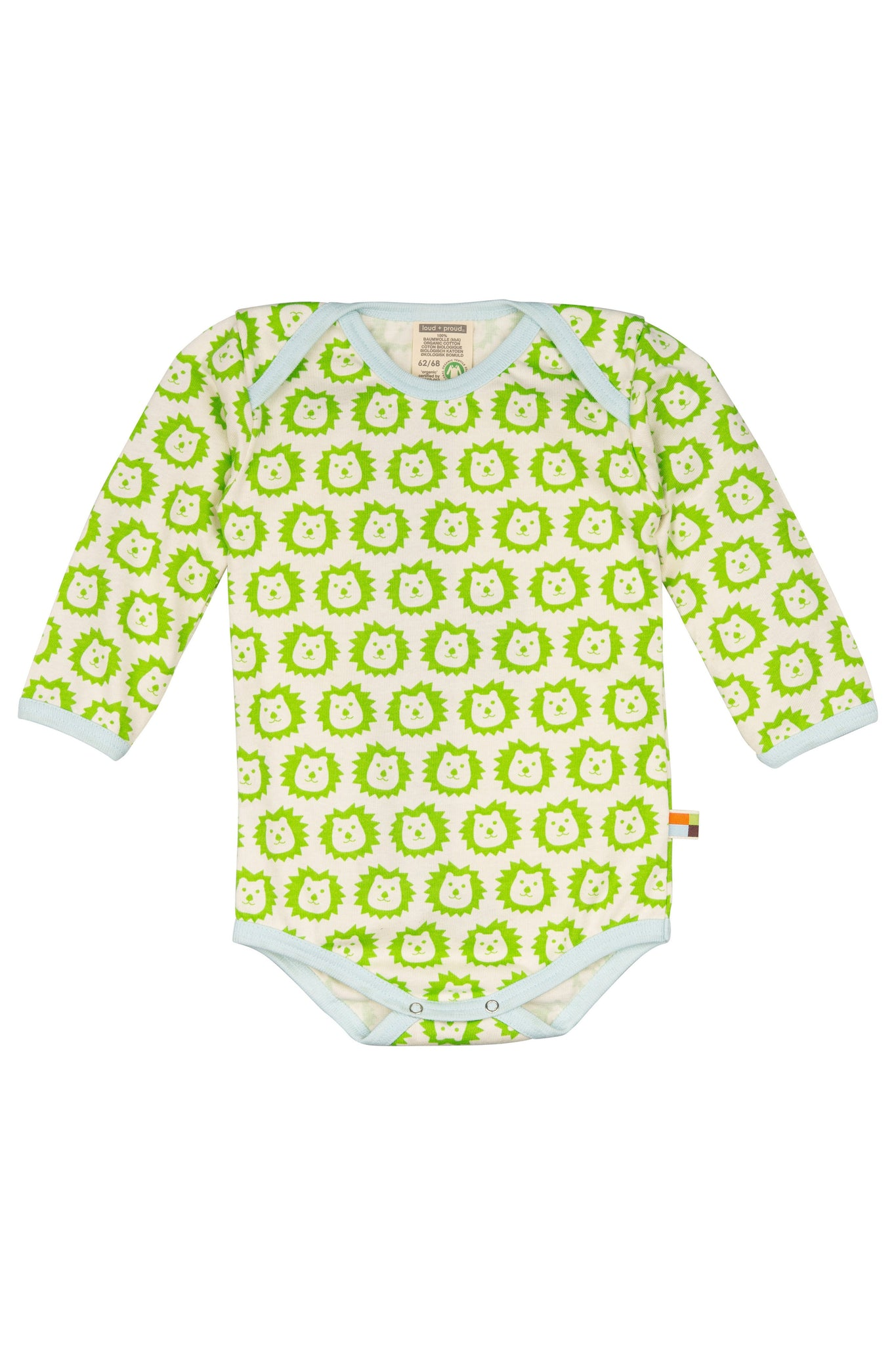 Lion Lime Long Sleeve Body - loud+proud Fashion - Snugglefox