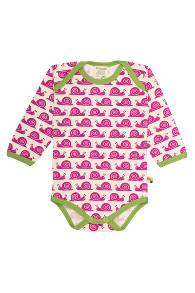 Snail Fuchsia Long Sleeve Body - loud+proud Fashion - Snugglefox