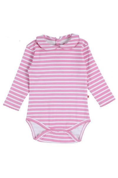 Pink Stripe Long Sleeve Body - Piccalilly Fashion - Snugglefox