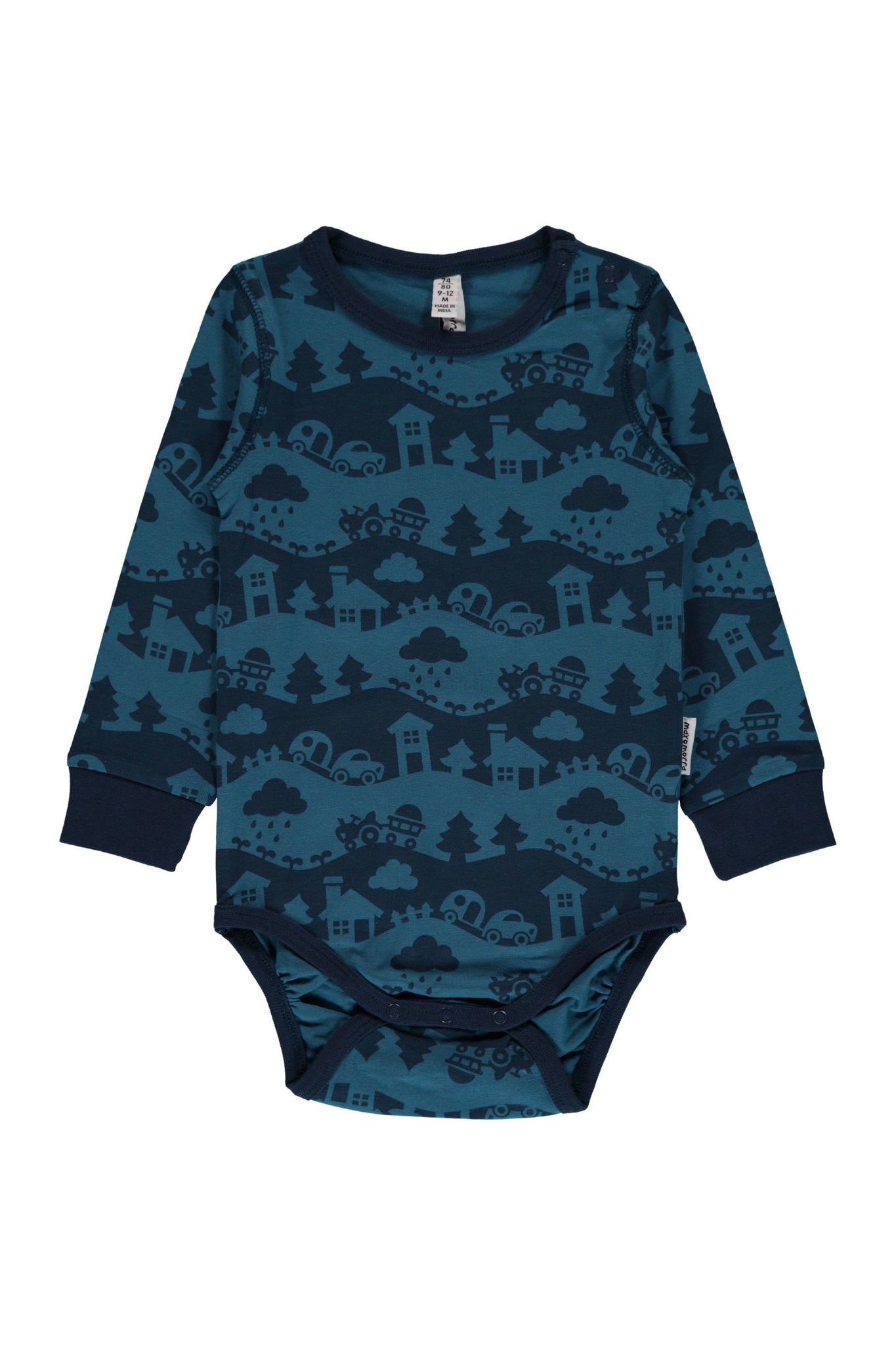 Blue - Landscape - Body - Long - Sleeve - Maxomorra Fashion - Snugglefox