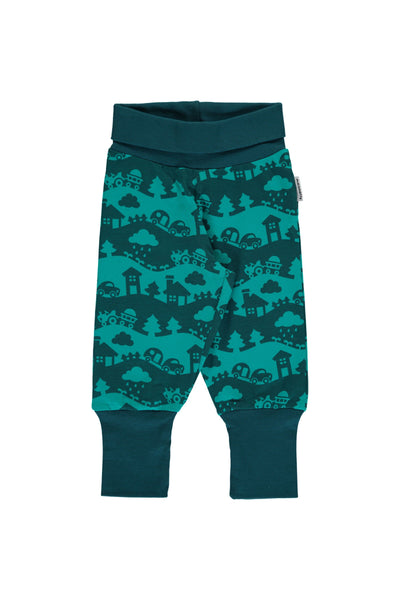 Turquoise - Rib - Pants - Maxomorra Fashion - Snugglefox