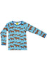 Moose - Blue - Long Sleeve - Top - DUNS Fashion - Snugglefox