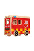 Natural Fire Engine + 3 people - Lanka Kade Toys - Snugglefox