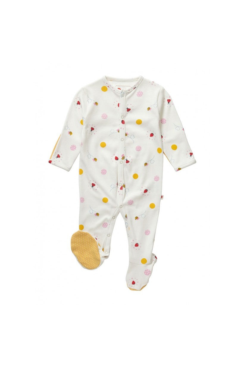 Ladybird Spot Footed Sleepsuit - Piccalilly Fashion - Snugglefox