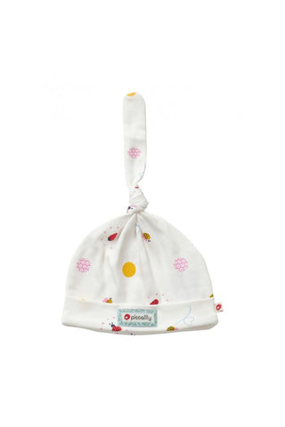 Ladybird Spot Baby Knot Hat - Piccalilly Fashion - Snugglefox