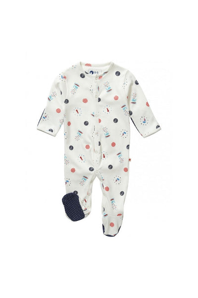 Sailor Spot Footed Sleepsuit - Piccalilly Fashion - Snugglefox