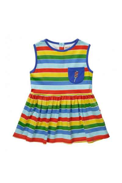 Rainbow Stripes Sleeveless Dress - Piccalilly Fashion - Snugglefox