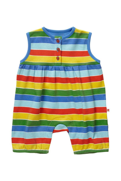 Rainbow Stripes Shortie-Romper - Piccalilly Fashion - Snugglefox