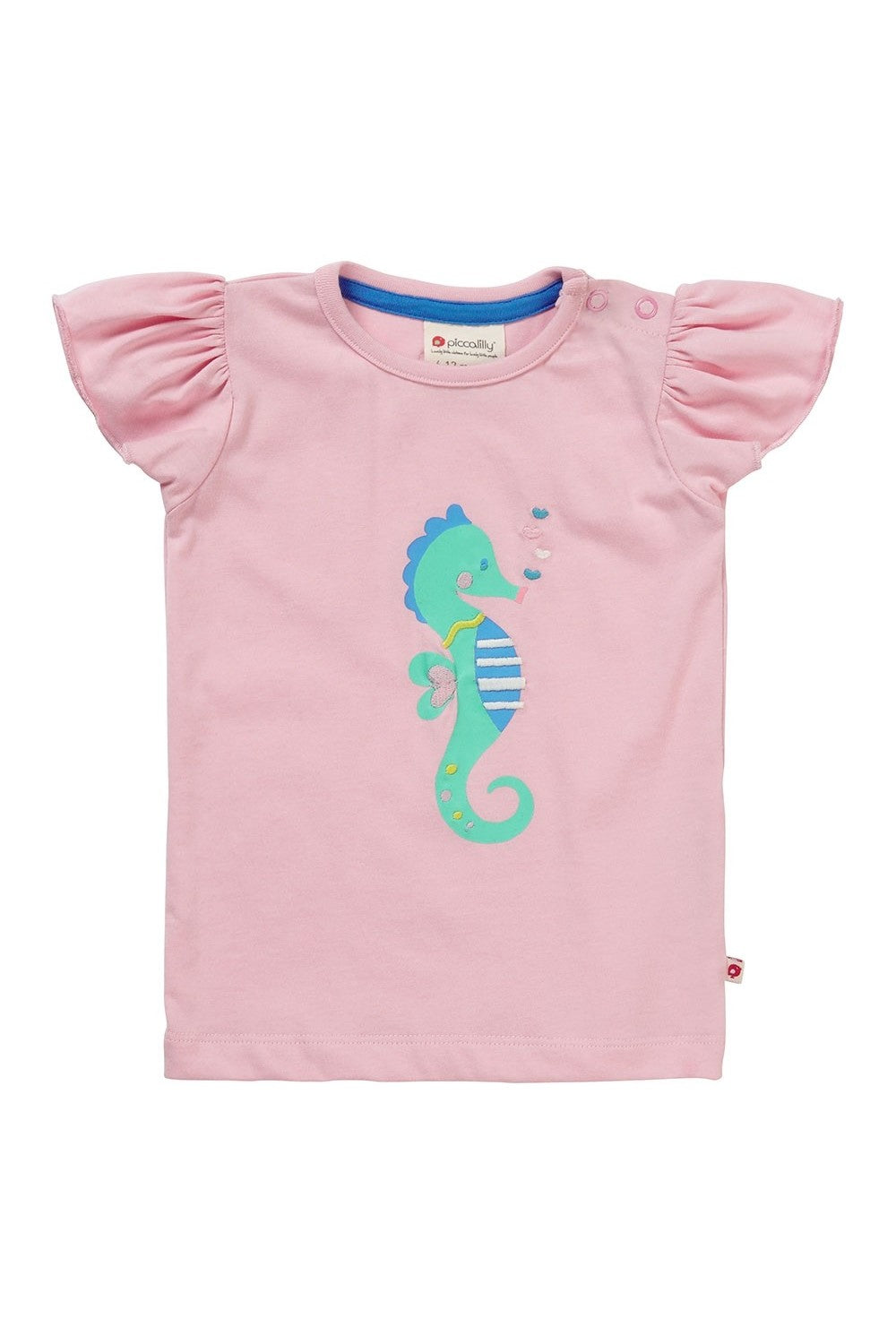 T-Shirt - Seahorse - Applique - Piccalilly Fashion - Snugglefox