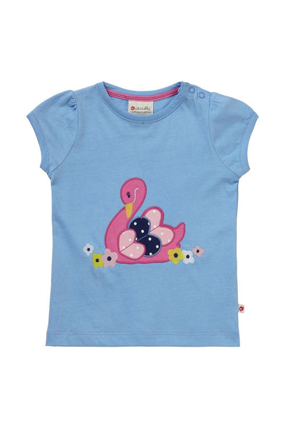 T-Shirt - Swan - Applique - Piccalilly Fashion - Snugglefox