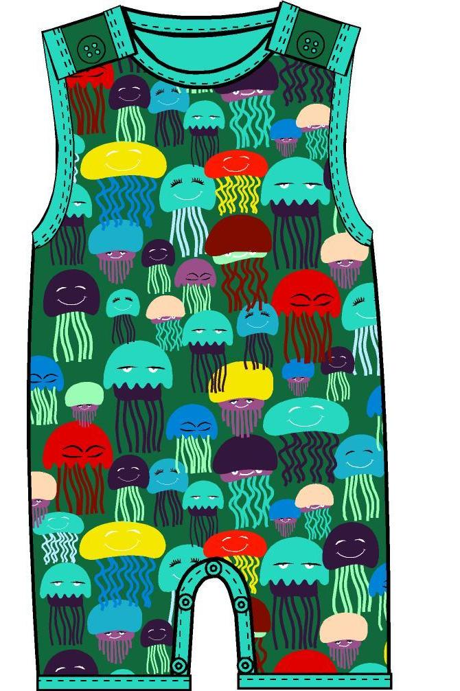 Summer Dungaree Jellyfish - DUNS Fashion - Snugglefox