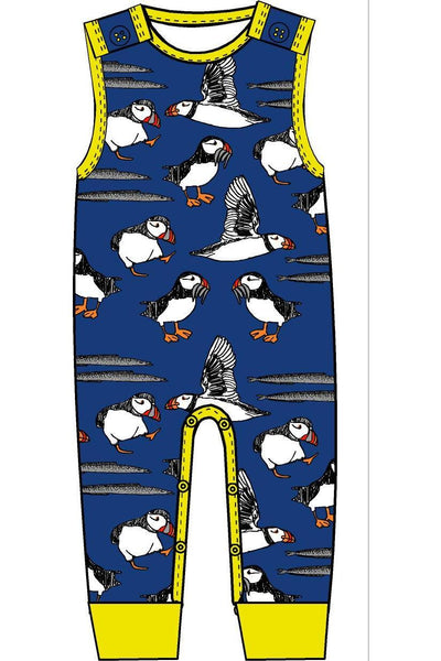 Dungaree Puffins Blue - DUNS Fashion - Snugglefox