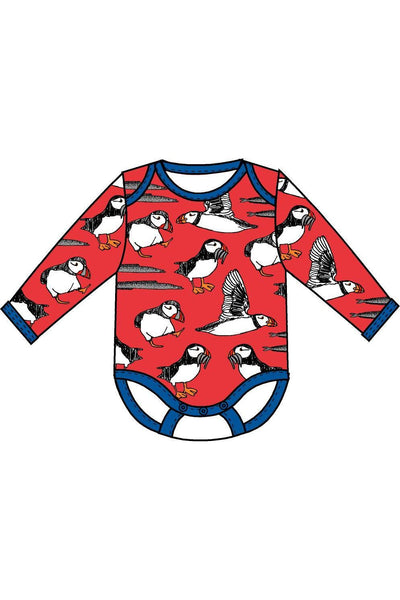 Long Sleeve Puffins Body Red - DUNS Fashion - Snugglefox