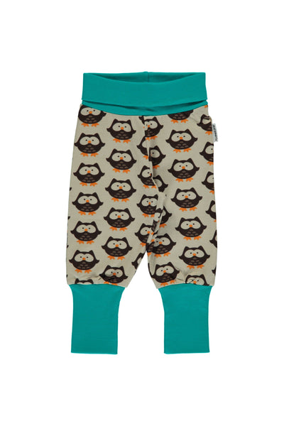Owl - Rib - Pants - Maxomorra Fashion - Snugglefox