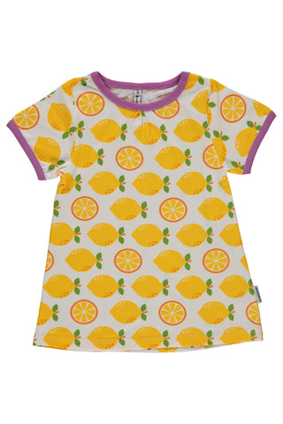 Lemon Top - short sleeve - A-Line - Maxomorra Fashion - Snugglefox