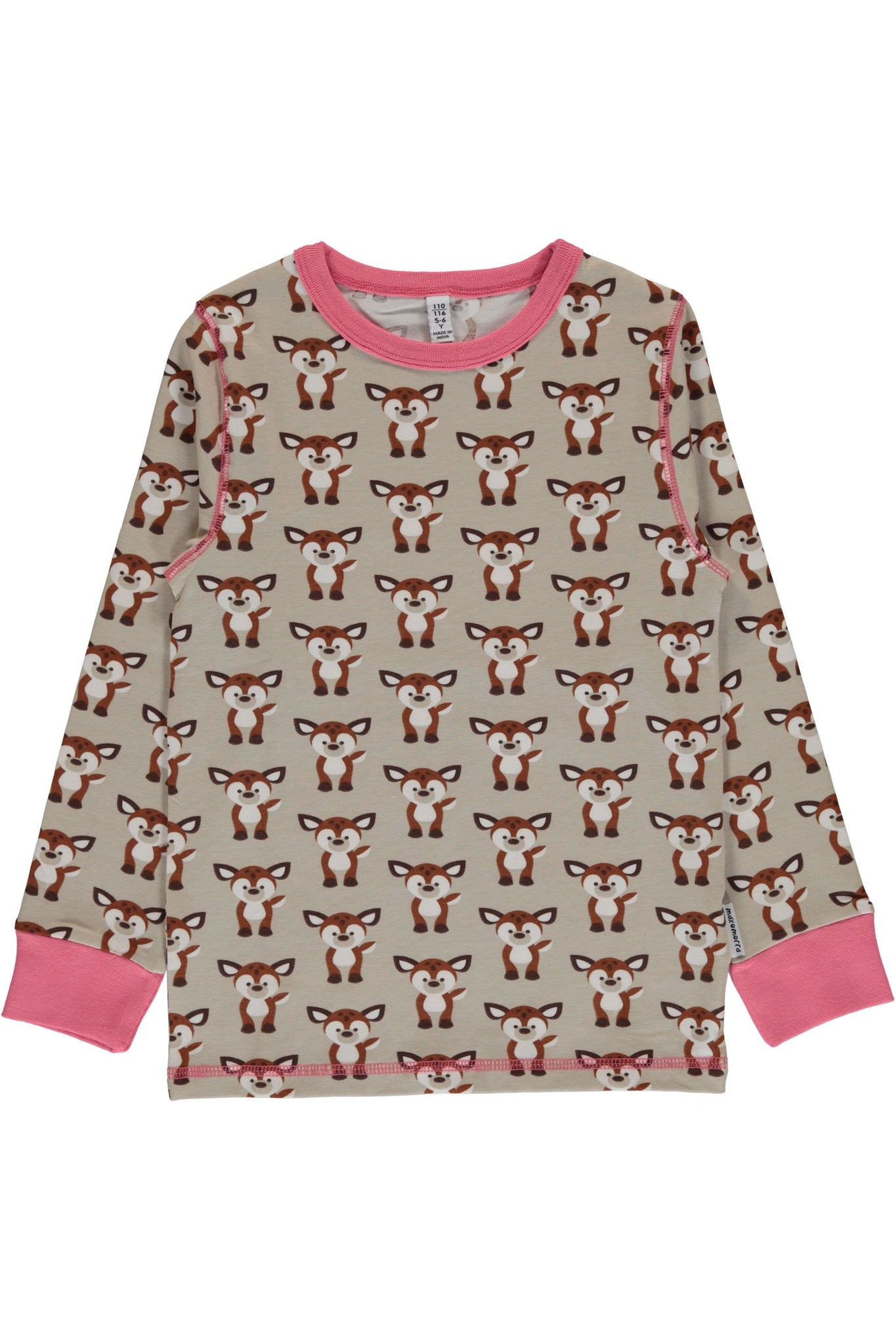 Fawn - Long - Sleeve - Top - Maxomorra Fashion - Snugglefox