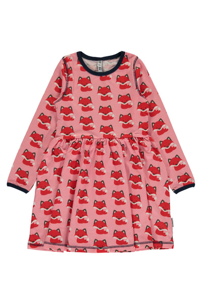 Fox - Spin Dress - Long Sleeves - Maxomorra Fashion - Snugglefox