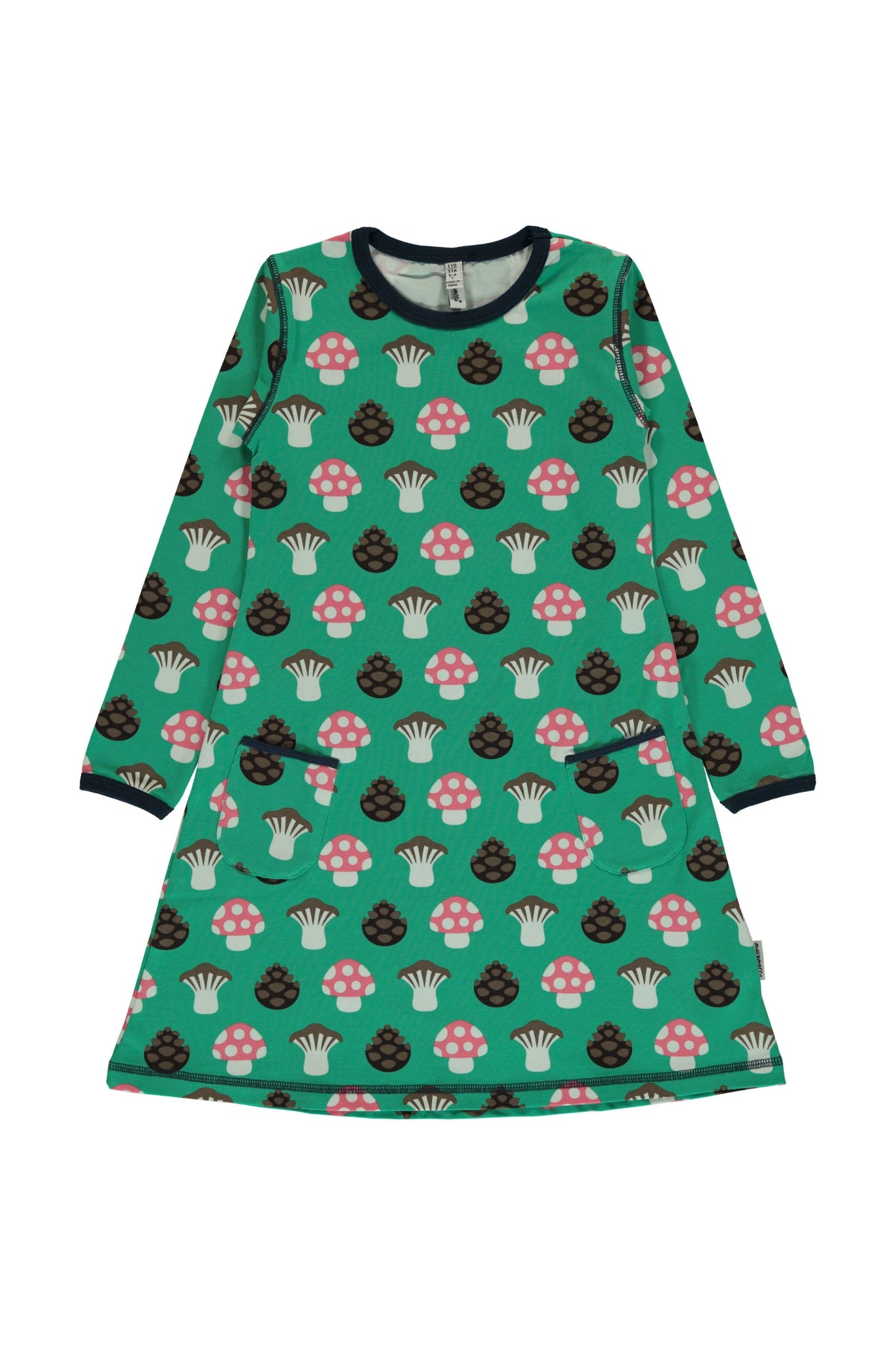 Mushroom - A-Line - Dress - Long Sleeves - Maxomorra Fashion - Snugglefox