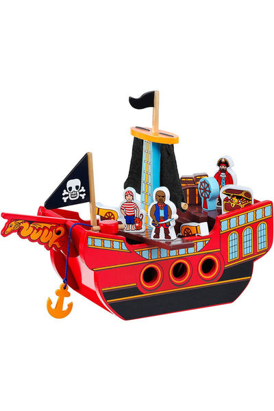 Pirate Ship + 3 pirates and 12 accessories - Lanka Kade Toys - Snugglefox