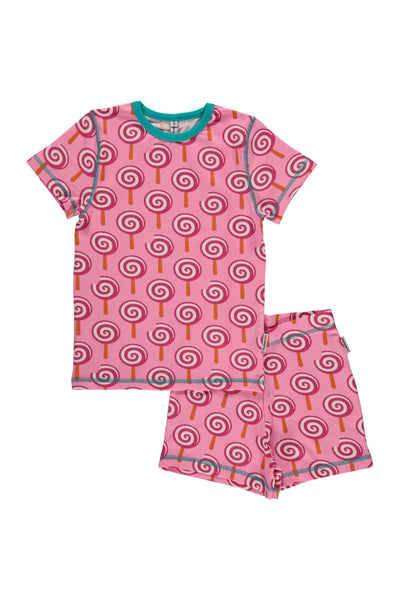 Lollipop Pyjama Set - Short Sleeves - Maxomorra Fashion - Snugglefox